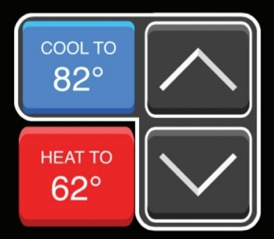 Adjusting temperature on a Carrier Cor Thermostat