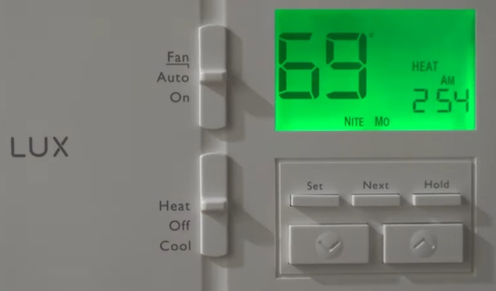 LuxPRO Thermostat Won't Change Temperature