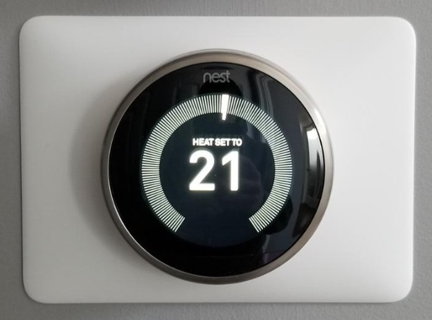 thermostat with password protection