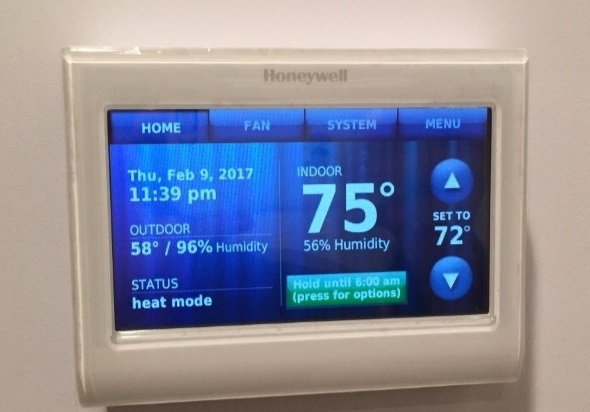 Password Protected Thermostats